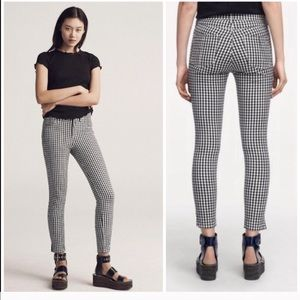 Rag& bone Gingham 10inch Capri, size 27,new